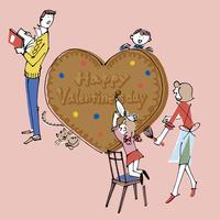 バレンタインデーの手作りチョコと家族
