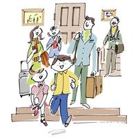 旅行に行く三世代家族 02514000391| 写真素材・ストックフォト・画像・イラスト素材|アマナイメージズ