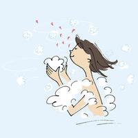 入浴する女性 02514000401| 写真素材・ストックフォト・画像・イラスト素材|アマナイメージズ