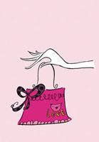 ピンクのバッグ 02515000001| 写真素材・ストックフォト・画像・イラスト素材|アマナイメージズ