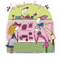 バレンタインのチョコを選ぶ女性たち 02515000012| 写真素材・ストックフォト・画像・イラスト素材|アマナイメージズ