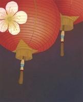 梅の花と提灯 02518000044| 写真素材・ストックフォト・画像・イラスト素材|アマナイメージズ
