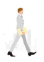 ビジネス街を歩くビジネスマン