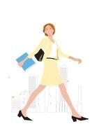 ビジネス街を歩くビジネスウーマン