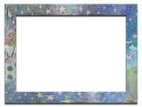雫と星が描かれたフレーム
