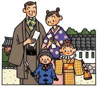 初詣の家族