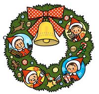家族のクリスマスリース
