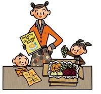 秋の食材と親子 02551000045| 写真素材・ストックフォト・画像・イラスト素材|アマナイメージズ