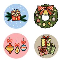 クリスマスプレゼントと飾りとリース