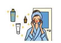 スキンケアをする女性 美容イメージ 02551000110| 写真素材・ストックフォト・画像・イラスト素材|アマナイメージズ