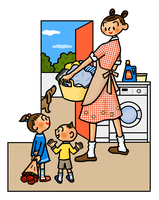 母の日にカーネーションを贈ろうとしている子供たち 02551000145| 写真素材・ストックフォト・画像・イラスト素材|アマナイメージズ