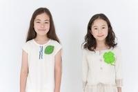 女の子2人のポートレート