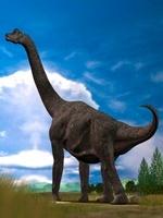 夏空とブラキオサウルス