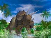 湿原のトリケラトプス