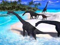 海岸のブラキオサウルス