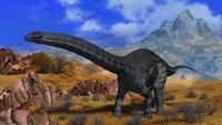 砂漠のアパトサウルス