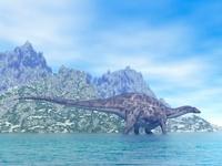 水辺のディクラエオサウルス