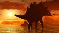 夕焼けのステゴサウルス