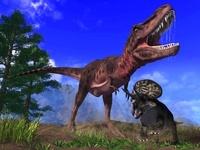 タルボサウルスとズニケラトプス