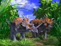 2頭のスティラコサウルス