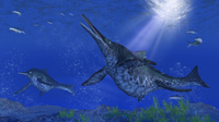 海中のショニサウルス