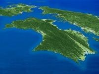 太平洋上空より九州・中部地方へ四国を望む 02614000025| 写真素材・ストックフォト・画像・イラスト素材|アマナイメージズ
