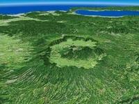 阿蘇山とその周辺カルデラを望む
