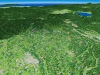 那須高原上空より福島県へ向けて周辺地形を望む 02614000049| 写真素材・ストックフォト・画像・イラスト素材|アマナイメージズ