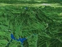 北海道上川東部から大雪山連峰を望む
