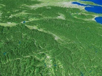 愛知県上空より関東山地へ向けて木曽山脈を望む