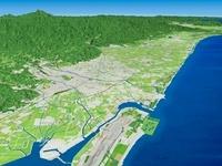 能登半島日本海西部から河北潟、金沢市、白山市を望む