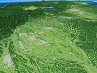 大田原市上空から北へ那須塩原市を望む