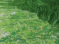 那須塩原市北東部から那須野が原を望む