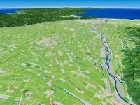 砺波市から富山湾へ流れる庄川