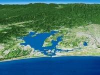 浜名湖南部上空より浜名湖一帯を望む