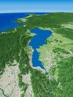 琵琶湖全体を上空から