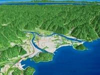 萩市と阿武川三角州 02614000176| 写真素材・ストックフォト・画像・イラスト素材|アマナイメージズ