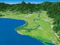 猪苗代湖と長瀬川三角州 02614000177| 写真素材・ストックフォト・画像・イラスト素材|アマナイメージズ
