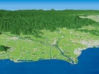 琵琶湖沿岸と姉川三角州 02614000179| 写真素材・ストックフォト・画像・イラスト素材|アマナイメージズ