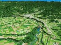 沼田盆地と片品川の河岸段丘 02614000182| 写真素材・ストックフォト・画像・イラスト素材|アマナイメージズ
