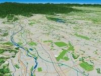 多摩川による武蔵野台地の段丘 02614000187| 写真素材・ストックフォト・画像・イラスト素材|アマナイメージズ