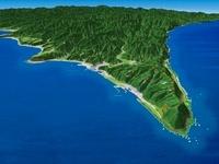 室戸岬上空から見た河岸段丘 02614000189| 写真素材・ストックフォト・画像・イラスト素材|アマナイメージズ
