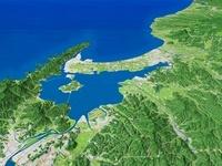 美保湾に向けて望む中海
