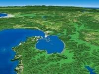 厚岸湾と厚岸湖を東部から望む