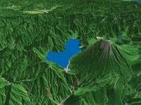 東側から見た中禅寺湖と男体山 02614000225| 写真素材・ストックフォト・画像・イラスト素材|アマナイメージズ