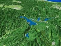桧原湖と周辺の湖