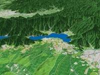 富士河口湖町と河口湖 02614000262| 写真素材・ストックフォト・画像・イラスト素材|アマナイメージズ
