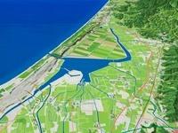 河北潟と金沢平野