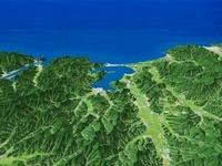 日本海側へ久美浜湾を望む