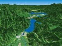 秋元湖から桧原湖方面を眺める 02614000291| 写真素材・ストックフォト・画像・イラスト素材|アマナイメージズ